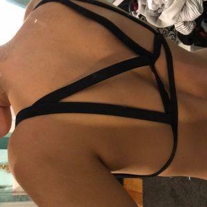 Victoria's Secret Swim - Strappy Black Bikini Top